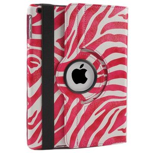 iPad Air 2 Hoes 360° Draaibaar Zebra Roze. Voor de iPad Air.
