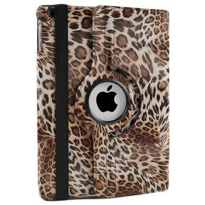 iPad Hoes 360° Draaibaar Luipaard. Voor de iPad Air.