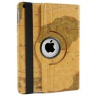 iPad Air Hoes 360° Landkaart Bruin