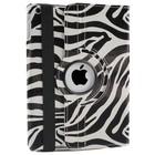 iPad Mini 1, 2, 3 Hoes 360° Zebra Zwart.
