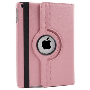 iPad Hoes 360° Draaibaar Leer Roze. Voor de iPad Mini 1 & 2