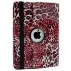 iPad 2,3,4 Hoes 360° Luipaard Roze