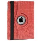 iPad 2,3,4 Hoes 360° Krokodillenleer Roze