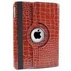iPad 2,3,4 Hoes 360° Krokodillenleer Bruin