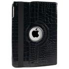 iPad 2,3,4 Hoes 360° Krokodillenleer Zwart