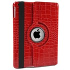 iPad Mini 1, 2 en 3 Hoes 360° Krokodillenleer Rood