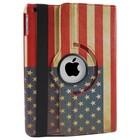 iPad Hoes 360° Amerikaanse Vlag, voor iPad 2, 3 en 4
