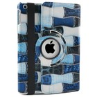 iPad Mini 1,2,3 Hoes 360° Patch Blauw