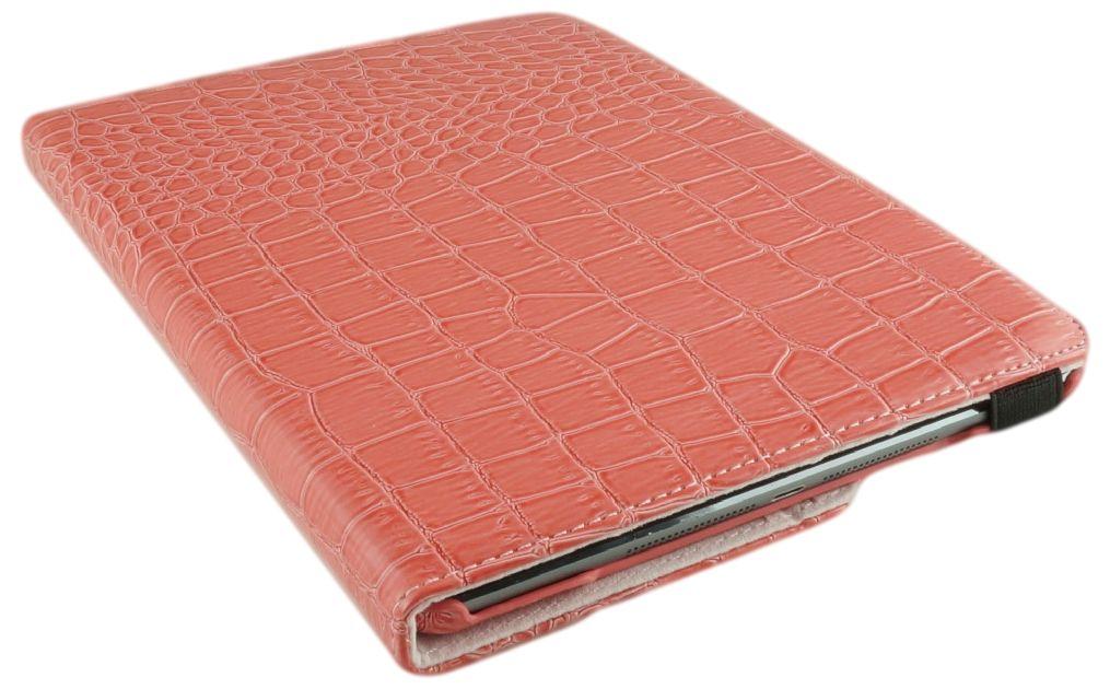iPad pro 9.7 Hoes 360° Draaibaar Krokodillenleer Roze. Voor de iPad pro 9.7.