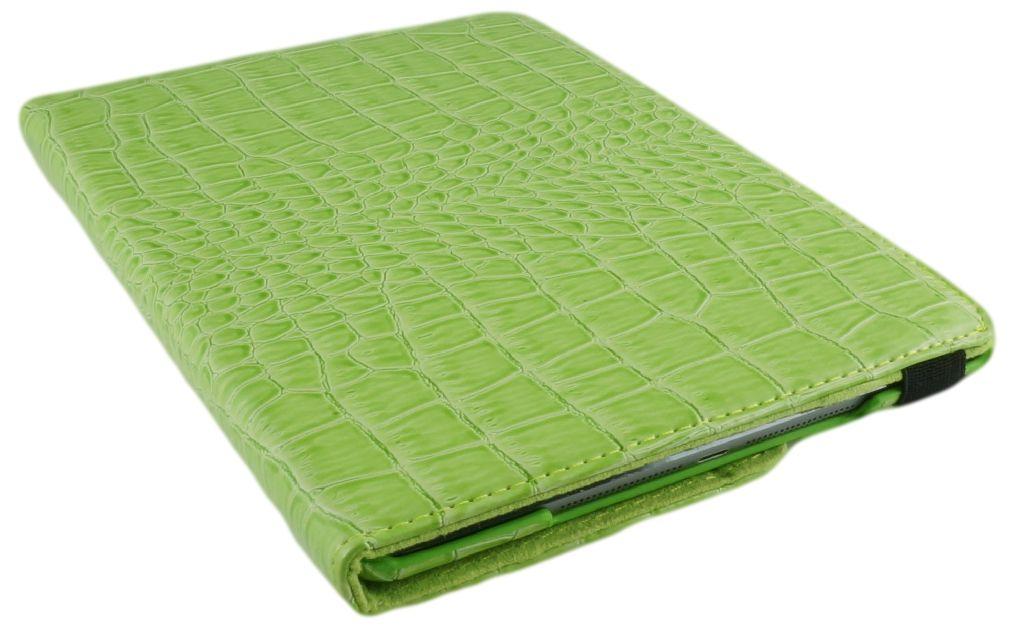 iPad pro 9.7 Hoes 360° Draaibaar Krokodillenleer Groen. Voor de iPad pro 9.7.