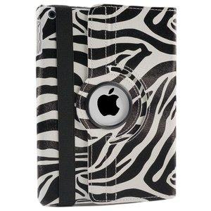 iPad pro 9.7 Hoes 360° Draaibaar Zebra Zwart. Voor de iPad pro 9,7.