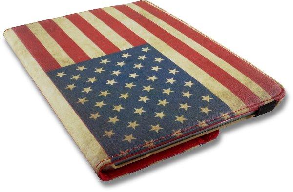 iPad Mini 4 Hoes 360° Draaibaar Amerikaanse Vlag. Voor de iPad Mini 4.