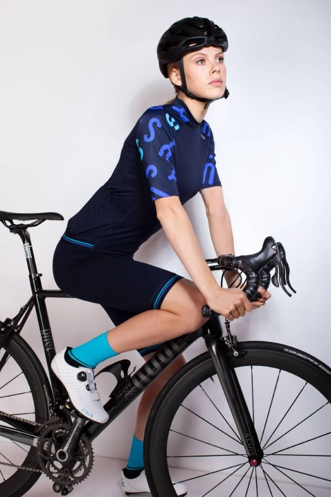 Dames fietssokken aqua (hoog)