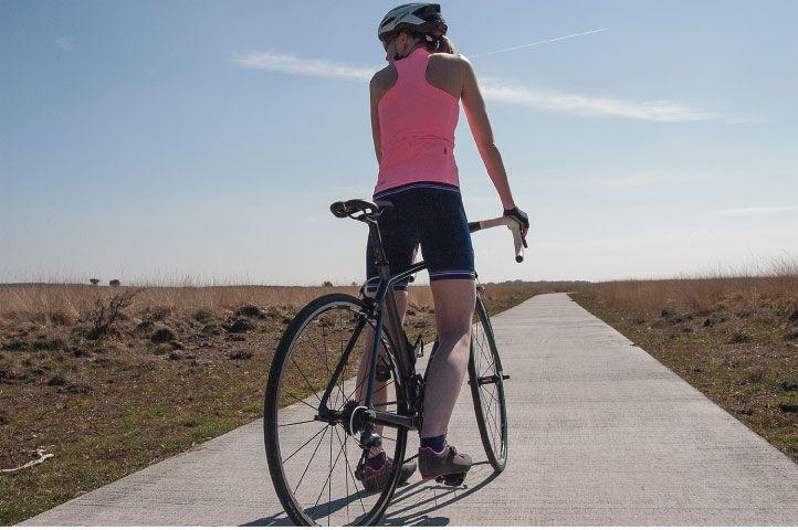 Cuissard vélo femme bleu marine