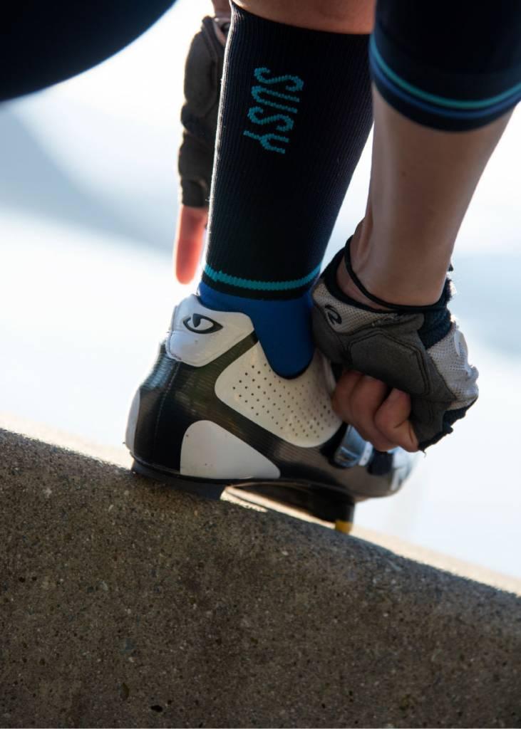 Blauwe Susy fietssokken