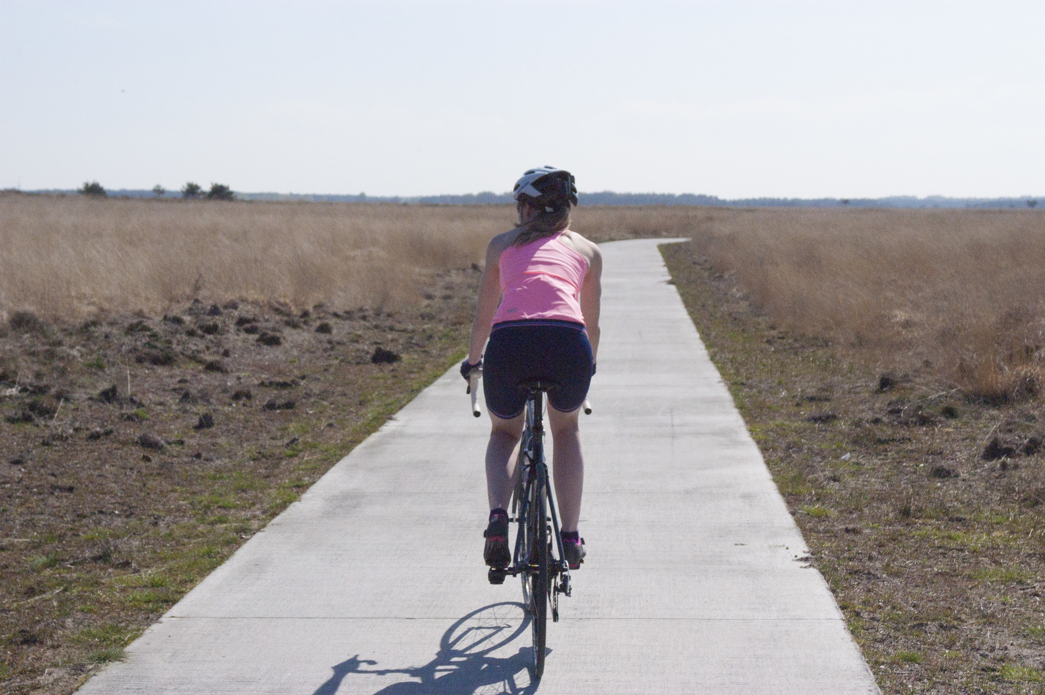 roze fietskleding