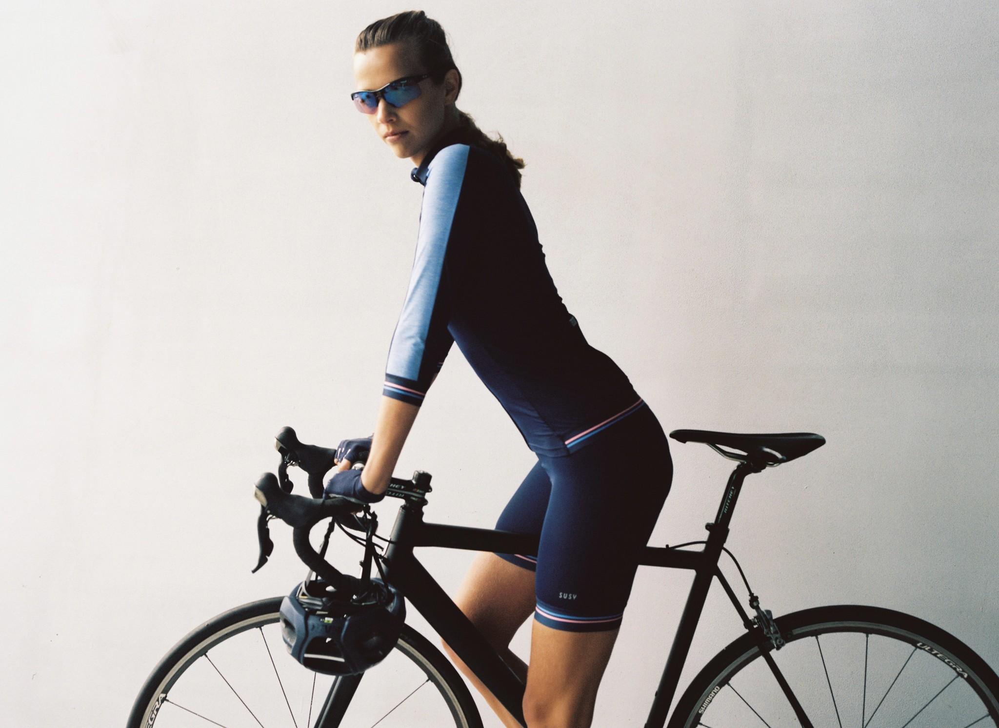mooie dames fietskleding