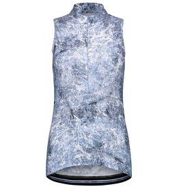 Sleeveless top sky-blue print
