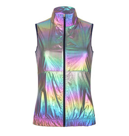 Women's wind gilet  metallic