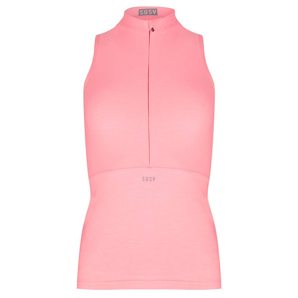 390fa445cca409 Bright pink sleeveless cycle jersey, for sportive & stylish ladies ...