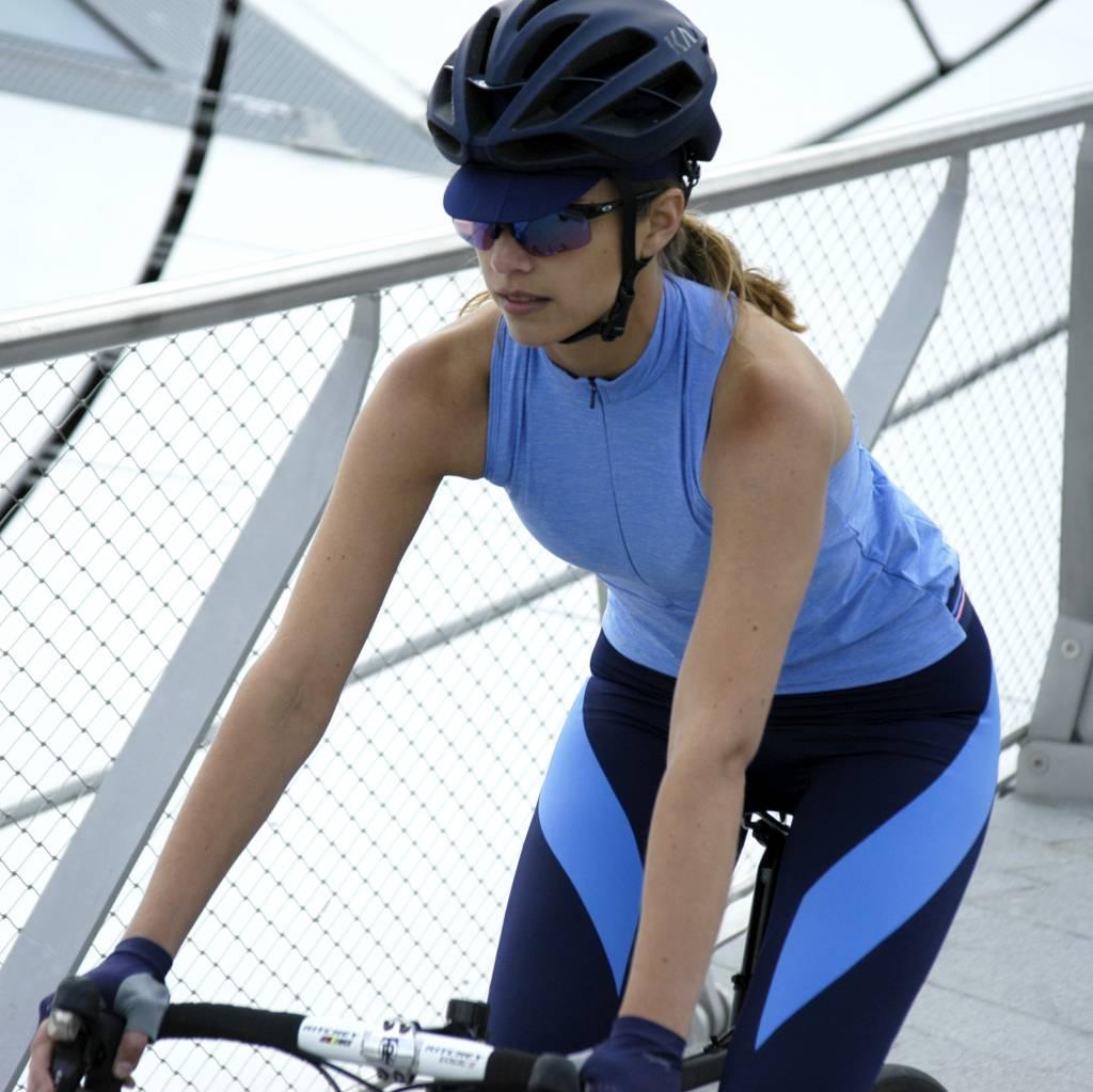 Dames fietshemdje blauw