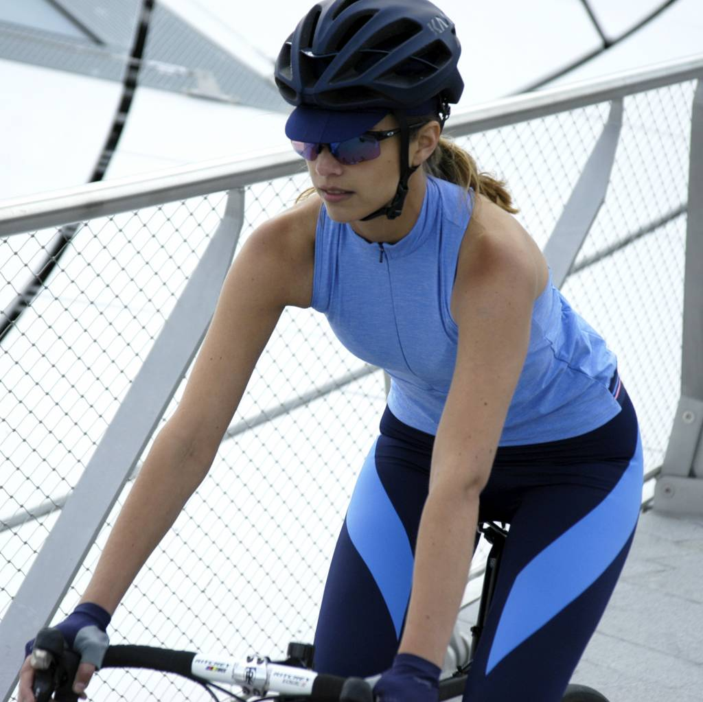 Dames spinningbroek navy blauw