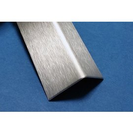 Versandmetall H-T-20 set Profils d'angle t = 1,0mm 45x45 ou 55x55mm surface brossé en grain320