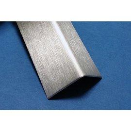Versandmetall H-T Hoekprofiel Hoeklijn Hoekstrip set van 20 dikte 1,0 mm 45x45mm of 55x55mm roestvrij Staal oppervlakke geschuurd(grid320)