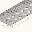 Versandmetall Grindkeringsprofiel Grindprofiel klein Hoogte 22 mm zonder dubbele bovenrand Roestvrij Staal Lengte 2000 mm