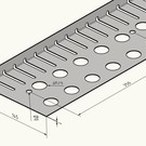 Versandmetall Kiesfangleiste klein Sonderbauhöhe 22mm 170320_20_P0101 ohne Falz Edelstahl 1.4301 Länge 2.000mm