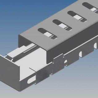 Versandmetall -Drainagerinne Form hoch Edelstahl inkl. Rost und Endstücke 1x b=50mm x h=45mm x979mm - 1x b=40mm x h=45mm x 1930mm