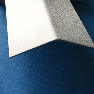 Versandmetall - 1 Stück Edelstahlwinkel 1,0 mm Außen Schliff K320 axb 100x450mm Länge 2.500mm Winkel ca. 135° bitte angeben