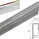Versandmetall Einfassprofil K320 1,0mm 12,5mm Glas oder Gipskarton umgleichschenkelig - 2R (IIID) spiegeloptik