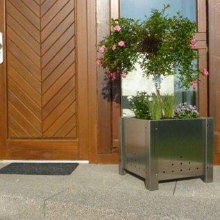 Versandmetall Pot de fleurs en acier inoxydable surdimensionné 3 tailles disponibles PK 30-60 à PK 50-100 rectangulaire en acier inoxydable