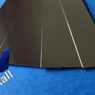 Vlakke Plaat Roestvrij staal Dikte 1,0mm Lengte 2000mm Oppervlakke  glanzend /spiegelnde
