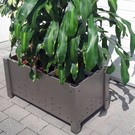 Versandmetall Bloemen pot plantenbak roestvrij Staal met 2 plastic insetstukken 3 Maaten verkrijgbaar
