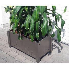 Versandmetall Pot à fleurs en inox pour jardinière 3 tailles disponibles PK 30-60 à PK 50-100