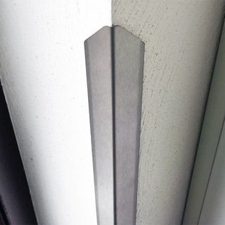Versandmetall Hoekbeschermer modern 1-voudig gerand, voor wanden hoeken en randen 40x40 lengte 1000 mm K320