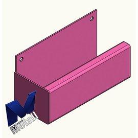 Versandmetall Gouttière de pluie inox forme P1 - Cordier à gauche - Surface brossè en grain 320  en acier inoxydable K320