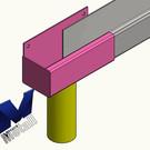 Versandmetall Gouttière de pluie forme P1 - queue gauche avec embout de vidange - surface brossè en grain 320  en acier inoxydable