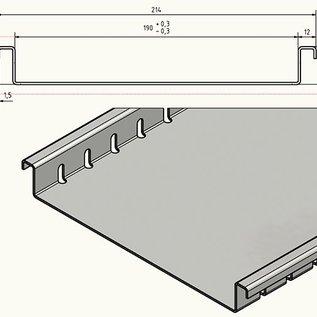 """Versandmetall Draingoten Roostergoten Afvoergoten Sparset vorm """"F"""" Aluminium Hoogte 25,5mm breedte van inlaat 190mm laag inbouwhoogte"""