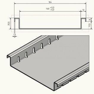 Versandmetall Caniveau de drainage Aluminium  en aluminium largeur d'entrée 90 à 190mm Drainage des Surfactant faible hauteur d'installation