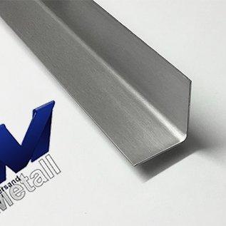 Versandmetall -4 Stück VA -Winkel axb 210x20mm 1,0mm 90° gekantet, Sichtseite INNEN Schliff K320 Länge 400mm