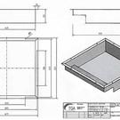Versandmetall 170929 - Afvoerkanaal volgens schets van 1,5 mm roestvrij staal, gelaste hoeken: axbxh 620x600x150mm Buitenafmetingen -0,5 / -1mm EXTERNE K320