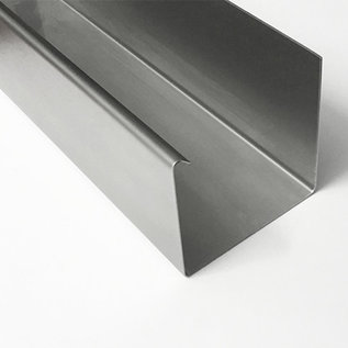 Versandmetall Regenrinne P1 Kastenrinne aus Edelstahl 1.4301 außen Schliff K320