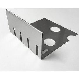 Versandmetall Bande de gravier  inox petite avec plie en acier inoxydable 1.4301 Hauteur 40-75mm