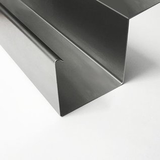 Versandmetall Regenrinne P2 Kastenrinne aus Edelstahl 1.4301 außen Schliff K320