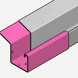 Versandmetall Gouttière P2 - connecteur droite - acier inox 1.4301 1,5mm surface brossè  en  grain 320