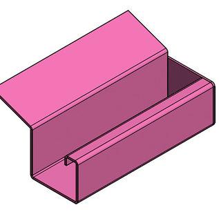 Versandmetall Gouttière de pluie modele P2 - queue droite - surface brossè  en grain 320  en acier inoxydable