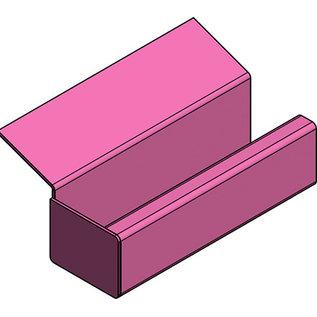 Versandmetall Gouttière de pluie modele P2 - Cordier à gauche - surface brossè en grain 320  en acier inoxydable
